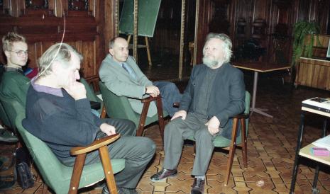 Od lewej x, Józef Robakowski, dyr. Jaromir Jedliński (ms) i Gerard Blum-Kwiatkowski