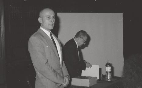 Dyr. Jaromir Jedliński (ms) i dyr. Ryszard Stanisławski