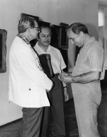 Od lewej Władysław Cichocki (Dział Naukowo - Oświatowy), Ryszard Brudzyński (wicedyrektor ms), Ryszard Świerczyński (Dział Głównego Inwetaryzatora)