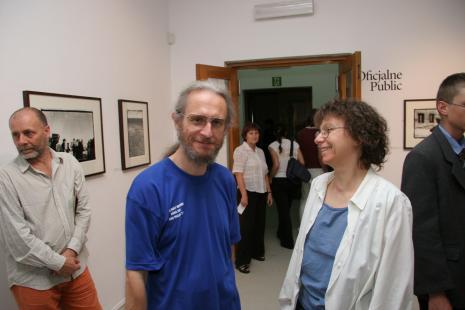 Od lewej Andrzej Chętko (artysta, pedagog ASP w Łodzi), prof. Stefan Czyżewski (PWSFTViT w Łodzi)