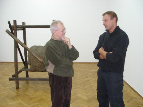 Artyści Edward Łazikowski i Tomasz Matuszak M.Ch.