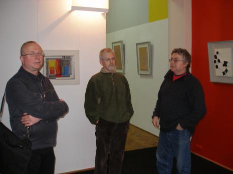 Jerzy Grzegorski i Adam Klimczak (Galeria Wschodnia), w środku Edward Łazikowski M.Ch.