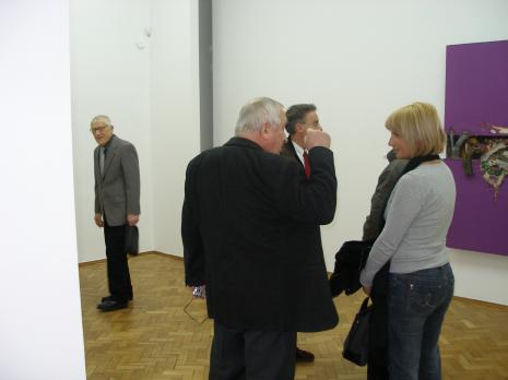 Z lewej malarz Wiesław Garboliński