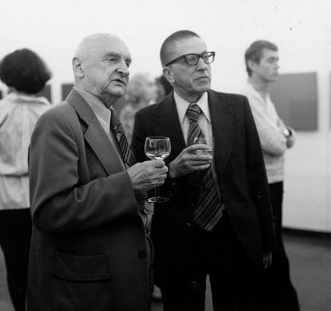 Henryk Stażewski i dyr. Ryszard Stanisławski