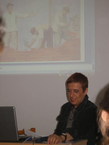 Ewa Toniak, autorka książki Olbrzymki. Kobiety i socrealizm