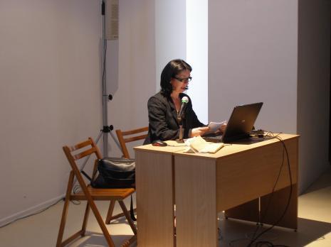 Zdenka Badovinac podczas wykładu