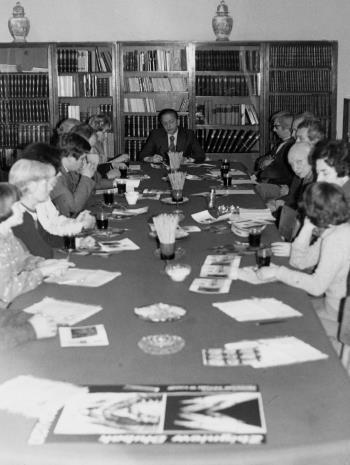 Konferencja prasowa w czytelni biblioteki Działu Dokumentacji Naukowej