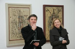 Przekazanie ram ufundowanych muzeum przez Fundację Promocji Sztuki Współczesnej i Fortis Bank