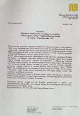 [Komunikat prasowy] Wystawa Magdalena Abakanowicz. Architektura arborelana [...]
