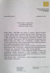 [Komunikat prasowy] Program video - Joseph Beuys [...]