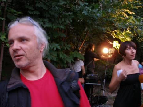 Malarz Piotr Turek, kuratorka wystawy Małgorzata Ludwisiak