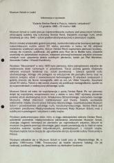 [Komunikat prasowy] Informacja o wystawie