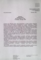 [Komunikat prasowy] Wystawa Mariusz Kruk [...]