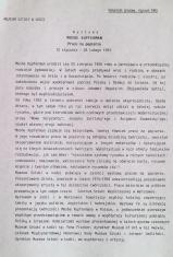 [Komunikat prasowy] Wystawa Moshe Kupferman Prace na papierze 12 stycznia - 28 lutego 1993.