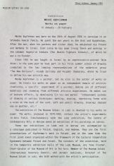 [Komunikat prasowy] Exhibition Moshe Kupferman Works on paper 12 January - 28 February.