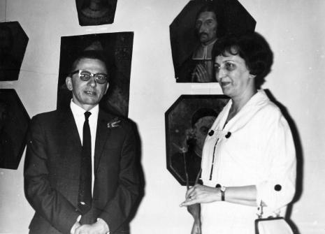 Dyr. Ryszard Stanisławski (ms) i dyr. Krystyna Kondratiuk (Muzeum Historii Włókiennictwa)