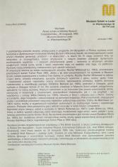 [Komunikat prasowy] Wystawa Nowa Sztuka w Wielkiej Brytanii 3 października  - 26 listopada 1995 [...]