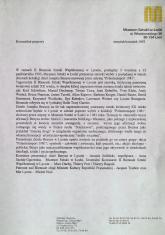 [Komunikat prasowy] W ramach II Biennale Sztuki Współczesnej w Lyonie [...] (