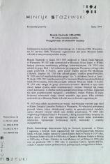 [Komunikat prasowy] Henryk Stażewski (1894-1988) w setną rocznicę urodzin. Przygotowania do obchodów rocznicy.