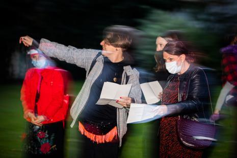 Pierwsza z lewej Małgorzata Wiktorko (Dział Edukacji)