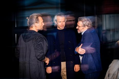 Od lewej Krzysztof Candrowicz, x, dyr. Jarosław Suchan (ms)