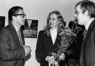 Dyr. Ryszard Stanisławski, wdowa po Lotharze Wollehu z bratem