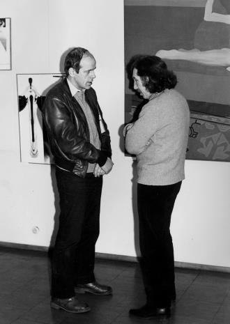 Dr Janusz Zagrodzki (Dział Grafiki i Rysunku Nowoczesnego) w rozmowie ze Zbigniewem Warpechowskim