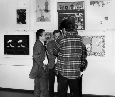 Od lewej dyr. Ryszard Stanisławski, Tomasz Jaśkiewicz i Krystyn Zieliński (tyłem)