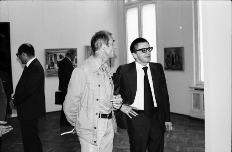 Wiesław Borowski (Galeria Foksal w Warszawie) i dyr. Ryszard Stanisławski (ms)