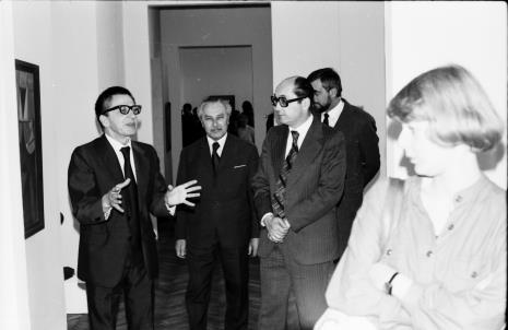 Od lewej dyr. Ryszard Stanisławski (ms), Ryszard Brudzyński (wicedyrektor ms), Zbigniew Polit (wiceprezydent Łodzi)