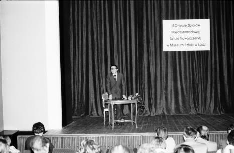 Spotkanie w Teatrze Nowym w Łodzi, dyr. Ryszard Stanisławski (ms)