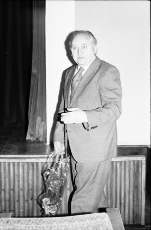 Spotkanie w Teatrze Nowym w Łodzi, Zdzisław Konicki (Archiwum Państwowe w Łodzi, Towarzystwo Przyjaciół Łodzi)