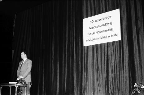 Spotkanie w Teatrze Nowym w Łodzi, dyr. Bogdan Rymaszewski (Ministerstwo Kultury i Sztuki)