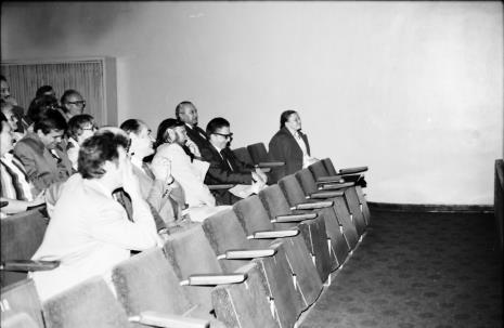 Spotkanie w Teatrze Nowym w Łodzi, publiczność