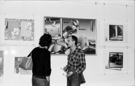 Z prawej Jaromir Jedliński (Dział Grafiki i Rysunku Nowoczesnego)