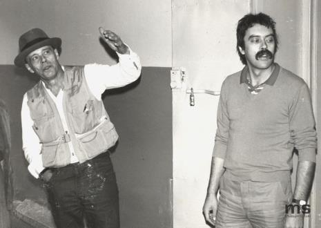 Z lewej Joseph Beuys