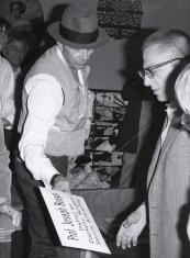 Wizyta Josepha Beuysa w ms w związku z przekazaniem kolekcji Polentransport