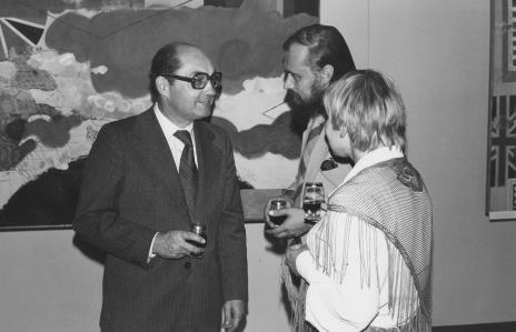 Zbigniew Polit (wiceprezydent Łodzi), dyr. Maciej Łukawski (Wydział Kultury UMŁ) i Janina Ładnowska (Dział Sztuki Nowoczesnej)