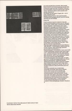 Andrzej Szewczyk: [wystawa] Muzeum Sztuki, Łódź lipiec-sierpień 1988