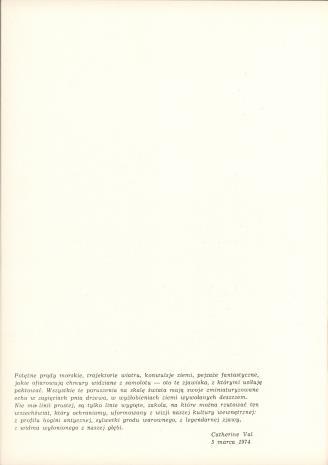 Catherine Val. Francja : rysunki i gwasze : [wystawa], Łódź czerwiec 1974 r.