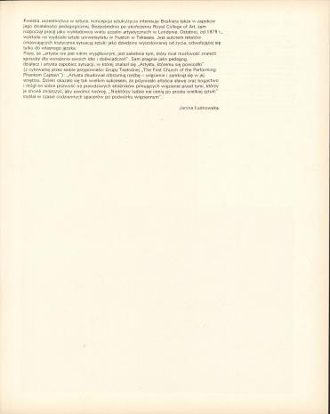 Derek Boshier - obrazy, rysunki, fotografie z lat 1962-1979 : wystawa zorganizowana przez Muzeum Sztuki w Łodzi we współpracy z British Council w Londynie i Centralnym Biurem Wystaw Artystycznych w Warszawie