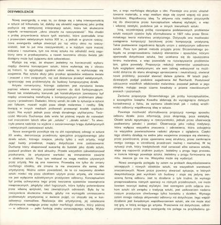 Desymbolizacje - Zbigniew Dłubak : [katalog wystawy], Muzeum Sztuki w Łodzi, październik-listopad 1978.
