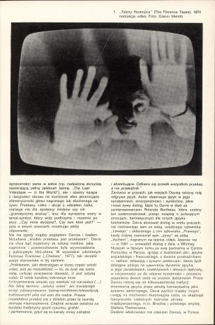 Douglas Davis - video, obiekty, grafika : [katalog wystawy, Muzeum Sztuki w Łodzi, marzec - kwiecień 1982, ZPAF - Związek Polskich Artystów Fotografików, Warszawa, maj 1982.
