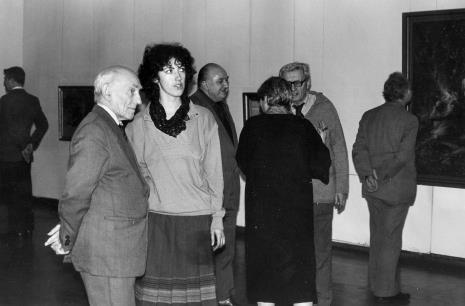 Od lewej dr Jacek Ojrzyński (Dział Dokumentacji Naukowej), Mieczysław Bohdziewicz (emerytowany pracownik ms), Hanna Grzeszczuk (Dział Sztuki Polskiej), Zdzisław Konicki (Archiwum Państwowe), Bolesław Utkin