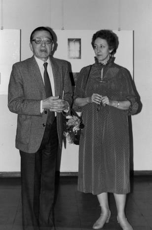 Dyr. Ryszard Stanisławski (ms) i Eva Rubinstein