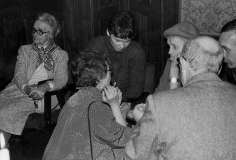 Z lewej Janina Nowakowska (współpracowniczka pierwszego dyrektora ms Mariana Minicha), w środku Eva Rubinstein