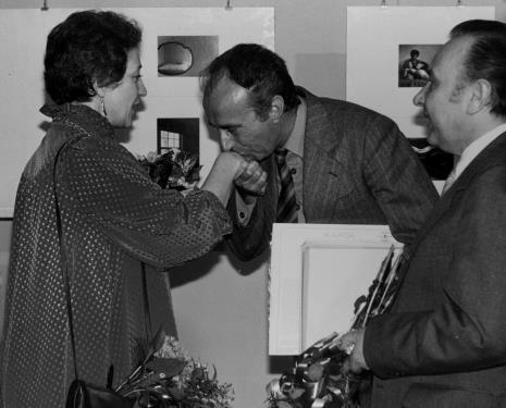 Eva Rubinstein, dyr. Kazimierz Mikołajczak (Filharmonia Łódzka), Zdzisław Szostak (zastępca kierownika artystycznego, Filharmonia Łódzka)