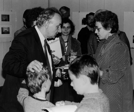 Z prawej Eva Rubinstein, w środku red. Krystyna Namysłowska (Polskie Radio)