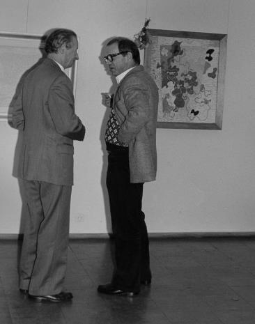 Artyści Zdzisław Głowacki i Tomasz Jaśkiewicz