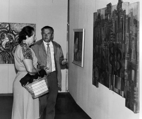 Członkowie Towarzystwa Przyjaciół Muzeum Sztuki